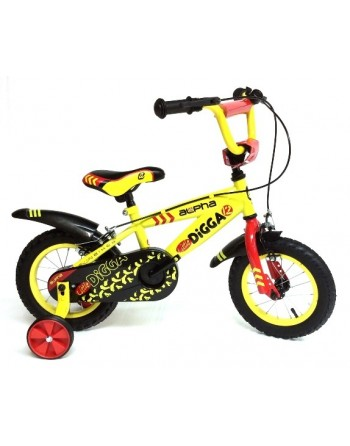 "Alpha Little Digga 12"" Boys Bike"