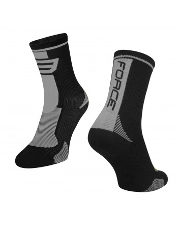 Force F Long Socks Black/Grey